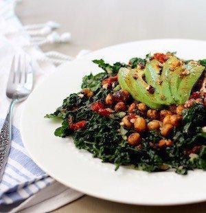 Roasted Chickpea Kale Salad