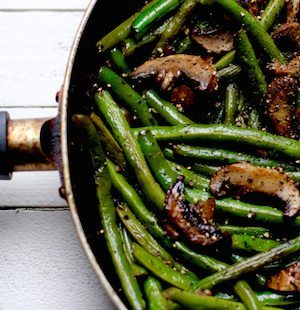Ginger Glazed Garlic String Beans