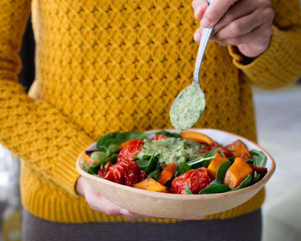 Roasted Tomato & Squash Salad