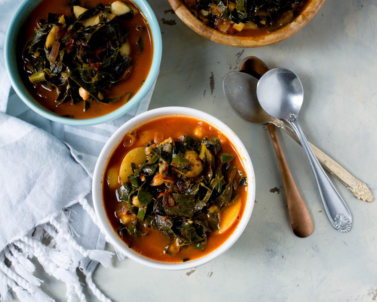 Potato Collard Green Soup