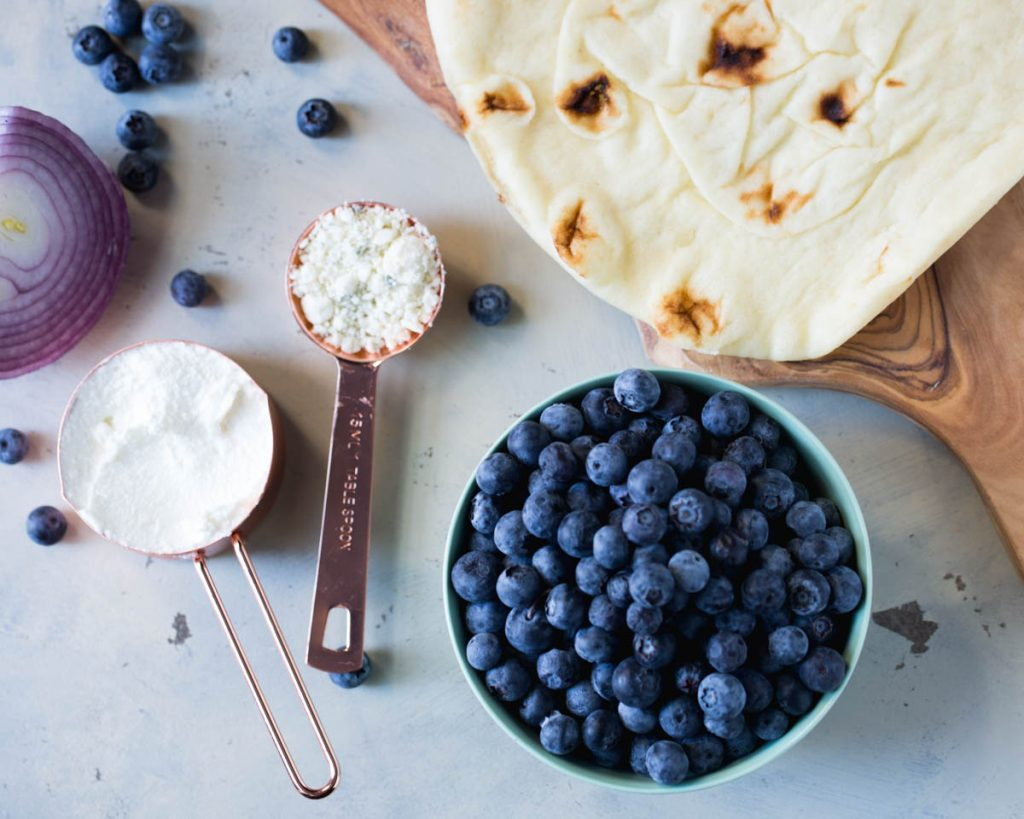 Savory Blueberry Flatbread Pizza - Food Heaven Made Easy