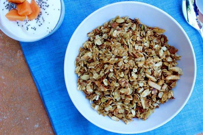 Almond Pumpkin Seed Coconut Granola Food Heaven Made Easy