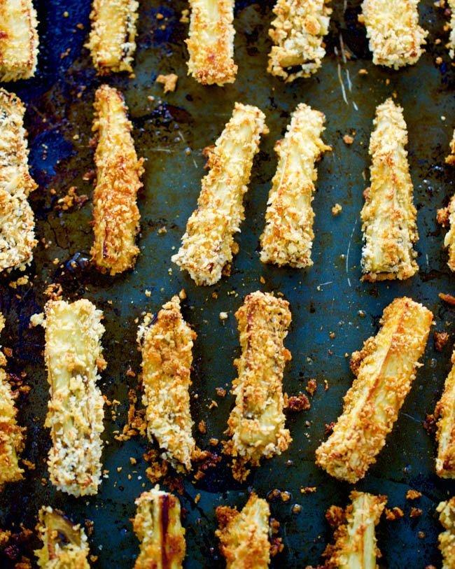 Crispy Baked Parmesan Eggplant Fries