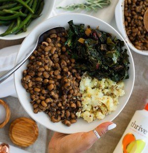 Instant Pot Black-Eyed Peas For New Years