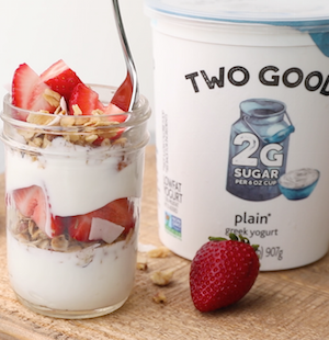 Coconut Chia Granola Greek Yogurt Parfait